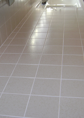 Nice Finished Grout Cleaning And Repair Job In Orange County