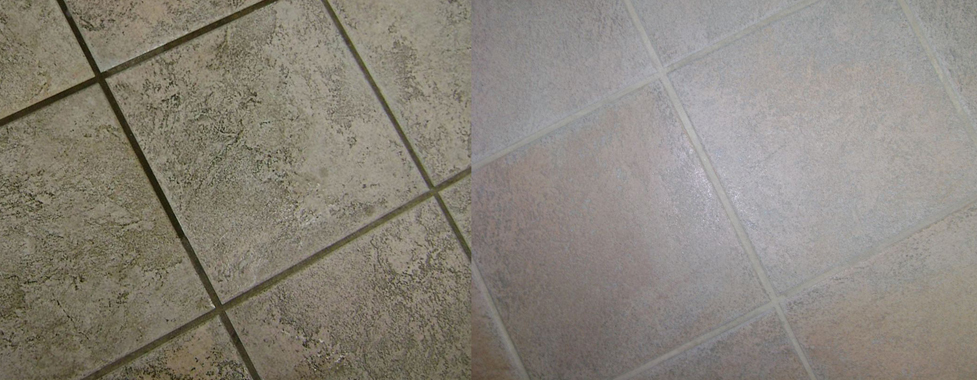 Regrouting a tile floor